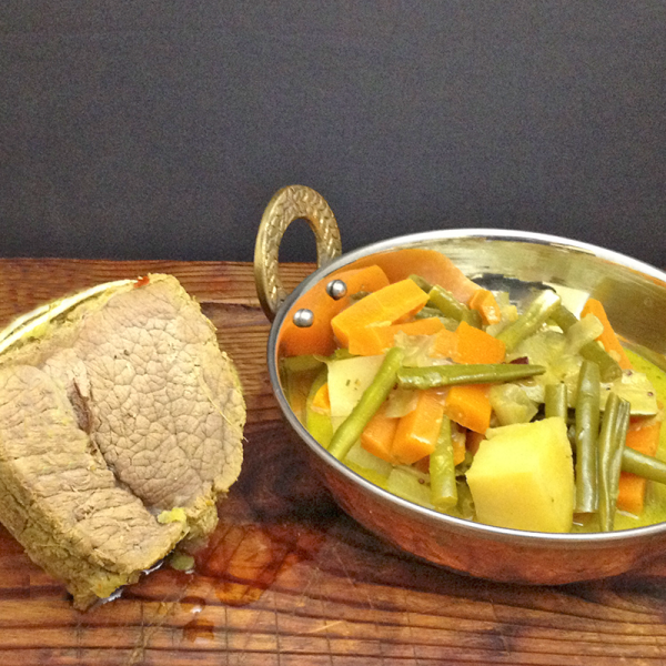 Indian Roast Beef and Vegetable Curry