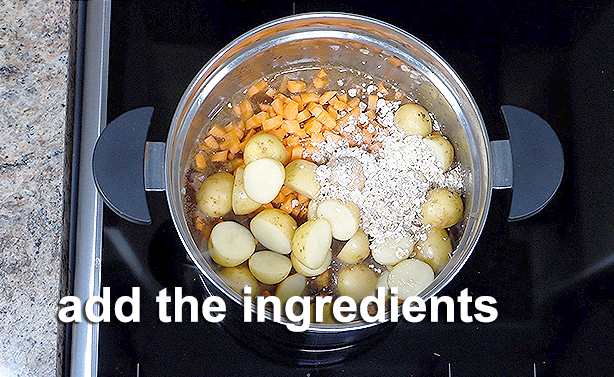 add the ingredients