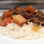 Tamarind Beef and Mushroom Casserole